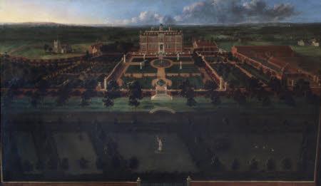 Bird's Eye View of Sudbury Hall: South Front