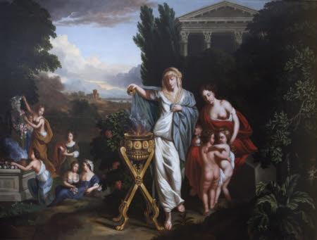 Women sacrificing to Janus