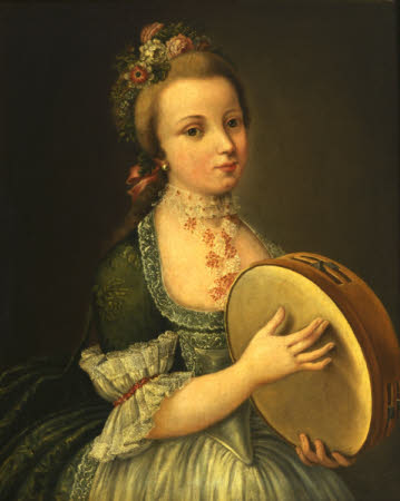 A Girl with Tambourine