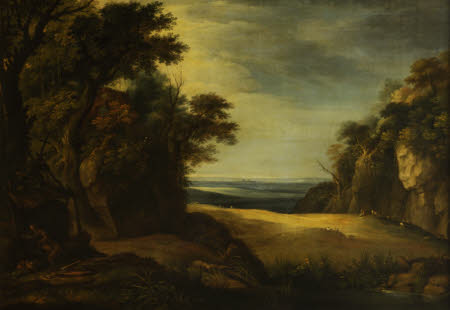 A Rocky Landscape with a Hermit