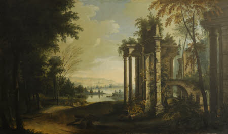 A Landscape with a River and Classical Ruins