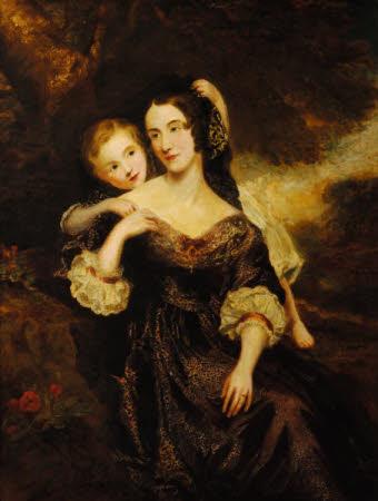 Martha Buckworth, Mrs William Lyde Wiggett Chute (d. 1888), with her Son, Chaloner William Wiggett ...