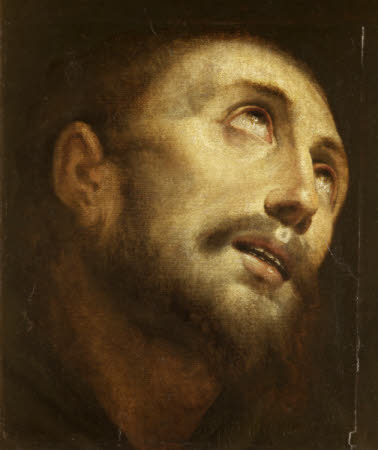 Head of Saint Francis, in ecstacy