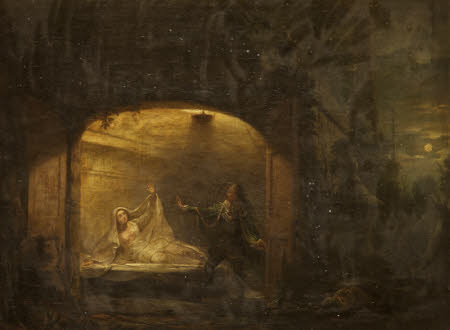David Garrick and George Anne Bellamy as Romeo and Juliet at Juliet's Tomb (from William ...