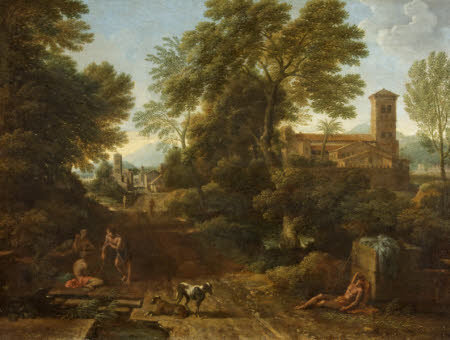 Classical Landscape with Figures on a Road