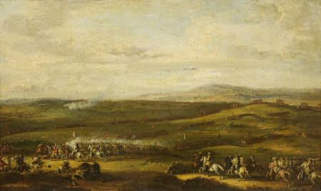 A Cavalry Charge with an Extensive Landscape