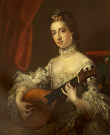 Anne Hoare, Mrs Richard Hoare (1737-1759) playing a Cittern (after Francis Cotes)