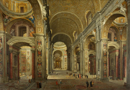 The Interior of St Peter's at Rome (after Panini)