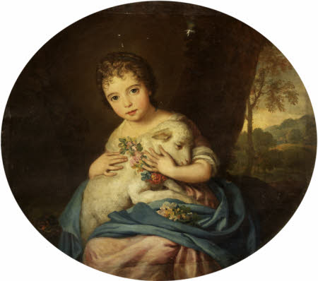 Child with a Lamb (possibly the Hon. Anne Masham (d.1727), later Mrs Henry II Hoare)