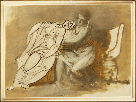 Sketch of Virgil reading the Aeneid to Augustus and the Fainting Octavia