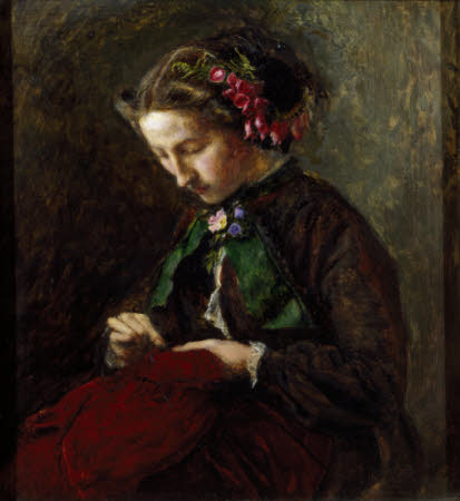 Euphemia 'Effie' Chalmers Gray, Mrs John Ruskin (1828-1898), later Lady Millais, with Foxgloves in ...