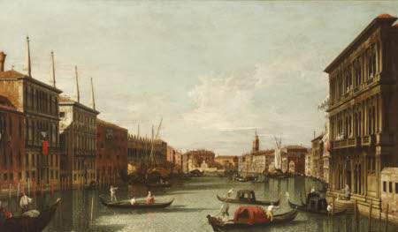 The Grand Canal with the Rialto and the Palazzo Vendramin-Calergi, Venice