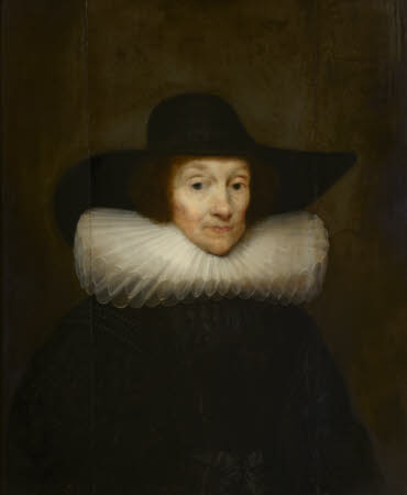 An Old Woman in a Cartwheel Ruff and a Black Hat