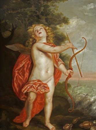 Cupid preparing his Bow to strike Pluto (after Van Dyck)