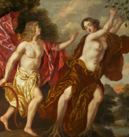 Apollo pursuing Daphne (after Flemish School)