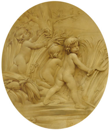 The Four Seasons: Summer: Putti Reaping (after Edmé Bouchardon)