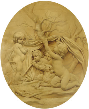 The Four Seasons: Winter: Putti sheltering by a Fire (after Edmé Bouchardon)