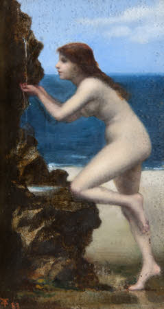 A Nude Girl at a Spring by the Sea