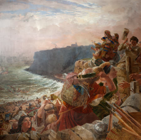 The Danes descend upon the Coast and at last possess Northumberland (One of a series of eight oil ...