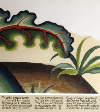 Leaf and Plant (Copied from Needlework screen completed by Julia Lady Calverley, 1727)