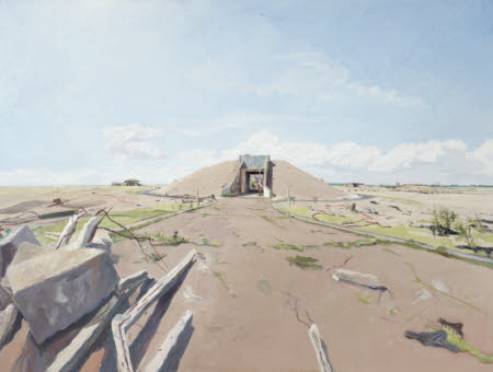 View of Military Remains at Orford Ness, Suffolk