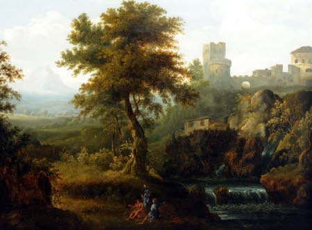 Italianate Landscape with River and Castle