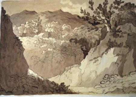 In the Glen of Lufs, Loch Lomond (Sketch)