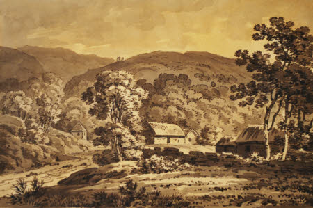 Cottages in an Unidentified Landscape, Scotland