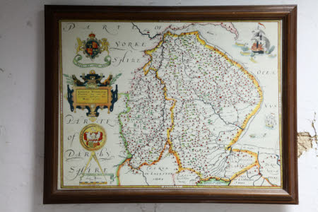 Map of Lincolnshire and Nottinghamshire,1576