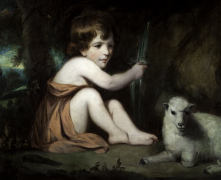 Master Watkin Wynn, later Sir Watkin Williams-Wynne 5th Bt (1772-1840), as the Infant Saint John ...