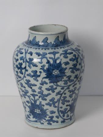 Nanking baluster vases