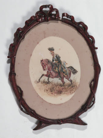 Three Framed Ovals of Regimental Officers
