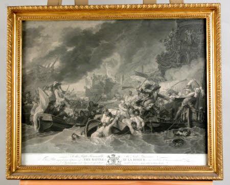 The Battle at La Hogue (after Benjamin West PRA)