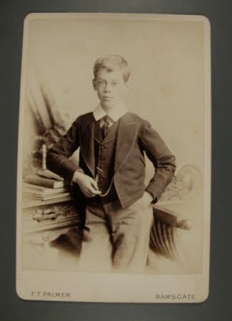 Captain, The Hon.Thomas Charles Reginald Agar-Robartes, MP (1880-1915) as a boy in school uniform.