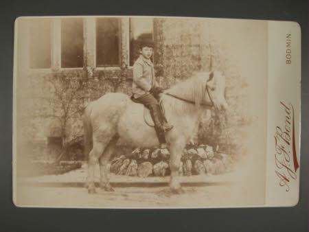 The Hon. Francis Gerald Agar-Robartes, later 7th Viscount Clifden (1883-1966) on horseback