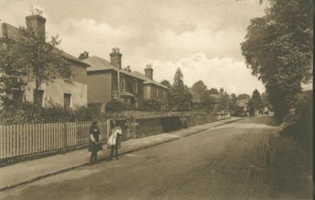 Merrow village street scene