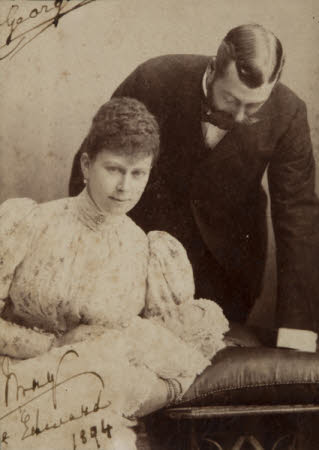 King George V, Queen Mary (Duke and Duchess of York), with Prince Edward in 1894
