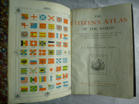 The citizen's atlas of the world . containing 120 pages of maps and plans with a descriptive ...