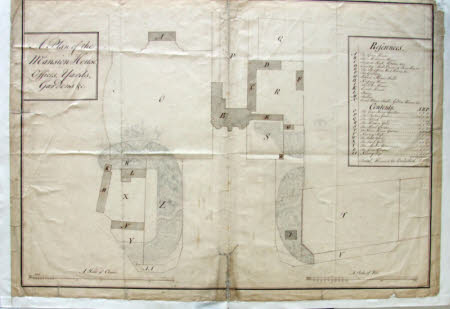 Plan of the House, Offices, Yards and Gardens.
