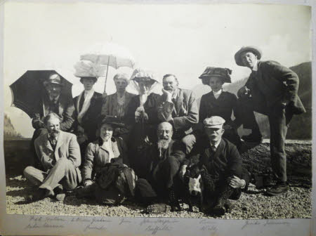 The Hulton family with relatives and friends including John Sargent  - Simplon Kulm, 1st September ...