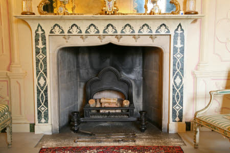 Chimneypiece, Whistler Room, Mottisfont Abbey, Hampshire