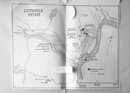 Map of the Cotehele Estate. Cornwall