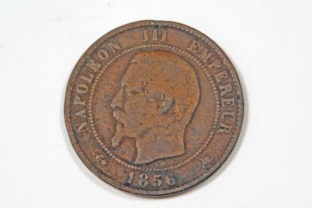 Coin, 1856: Emperor Napoleon III, Emperor of France (1808-1873)