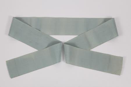Garter ribbon said to have belonged to King Charles I (1600-1649).