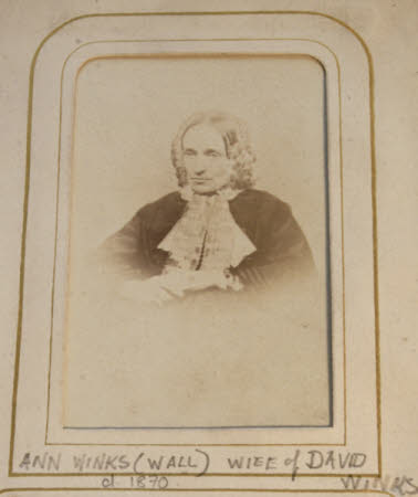 Ann Wall, Mrs David Winks (d.1870)