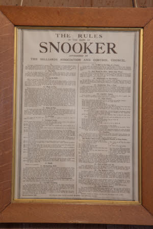 The Rules of the Game of Snooker