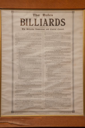 The Rules of the Game of English Billiards