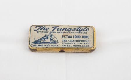 Gramophone needle tin
