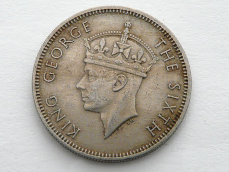 20 cent coin, Malaya, 1948: King George VI (1895-1952)