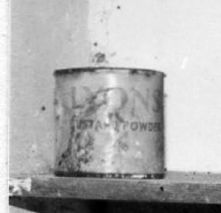 Custard powder tin